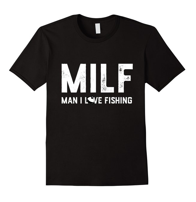 Milf Shirt Fishing Tee